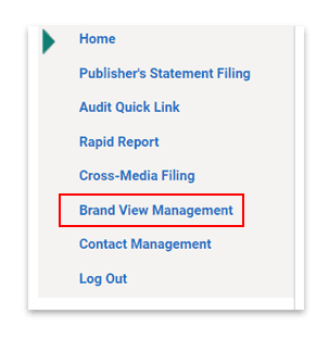 Select Brand View Management from menu