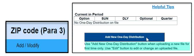 Add or modify ZIP code data
