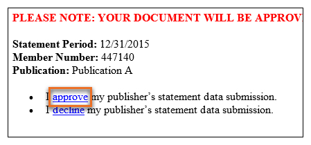 Approve your data submission