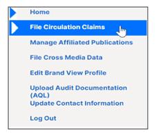 Select File Circulation Claims