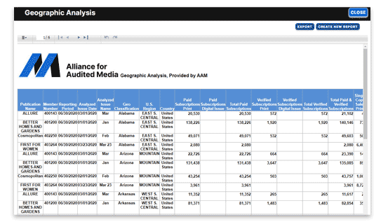 View and export your final report.