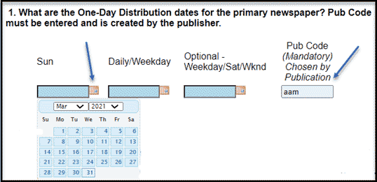 One-day distribution dates