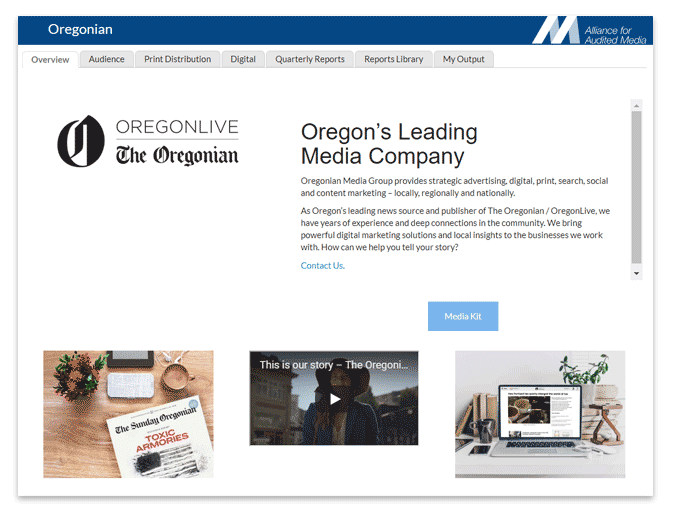 Oregonian Overview tab