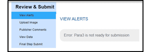 View Alerts section